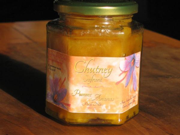 chutney safrané-pomme-ananas