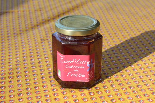 confiture safranée de fraise