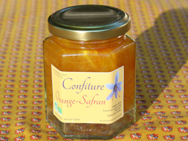 confiture safranée d'orange