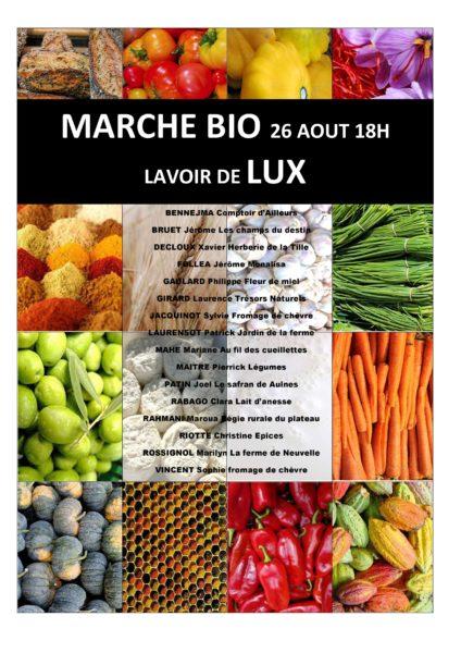 Marché Bio Lavoir de Lux