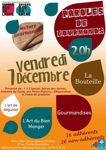 Lecture Gourmande Espace Baudelaire