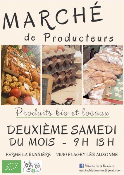 Marché de producteurs ferme de la Bussière